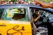 Manifestacion taxistas Elite